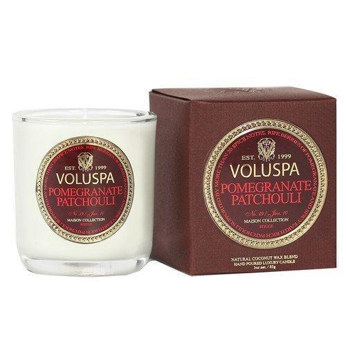 Voluspa Apricot & Coconut Wax Blend Perfumed Candle Pomegranate Patchouli 85 g