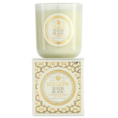 Voluspa Apricot & Coconut Wax Blend Perfumed Candle Suede Blanc 340 g