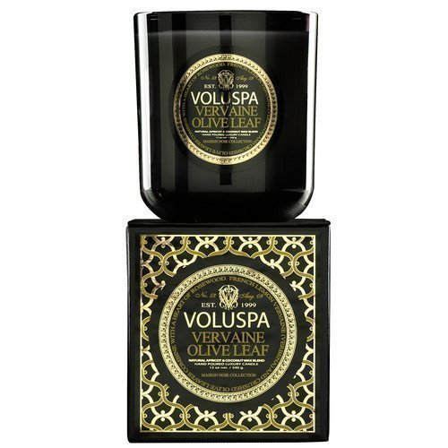 Voluspa Apricot & Coconut Wax Blend Perfumed Candle Vervaine Olive Leaf