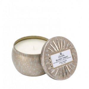 Voluspa Blonde Tabac Decorative Tin Candle Tuoksukynttilä Valkoinen