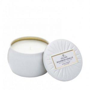 Voluspa Bourbon Vanille Decorative Tin Candle Tuoksukynttilä Valkoinen