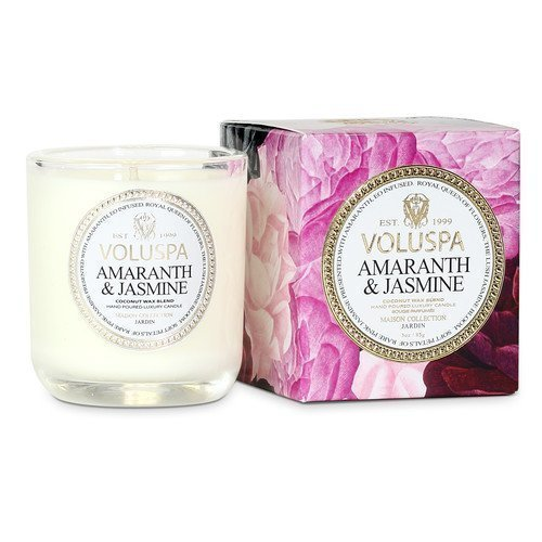 Voluspa Coconut Wax Blend Perfumed Candle Amaranth & Jasmine