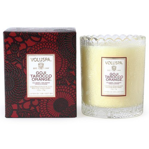 Voluspa Coconut Wax Blend Perfumed Candle Goji Tarocco Orange