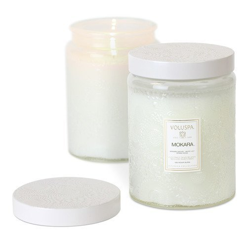 Voluspa Coconut Wax Blend Perfumed Candle Mokara