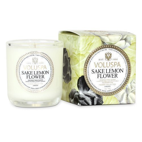 Voluspa Coconut Wax Blend Perfumed Candle Sake Lemon Flower 340 g