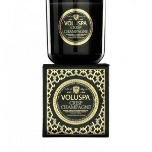 Voluspa Crisp Champagne Classic Maison Candle Tuoksukynttilä Valkoinen