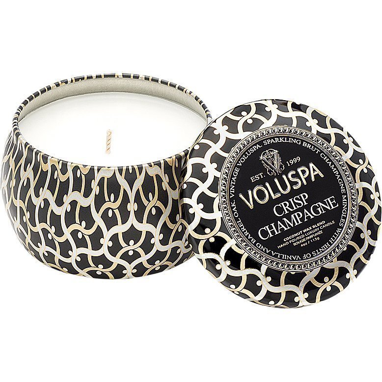 Voluspa Crisp Champagne Decorative Tin Candle 99g