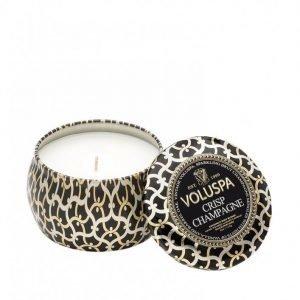 Voluspa Crisp Champagne Decorative Tin Candle Tuoksukynttilä Valkoinen