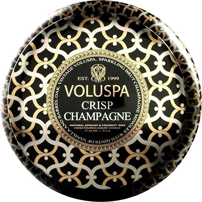 Voluspa Crisp ChampagneWick Maison Metallo Candle 312g