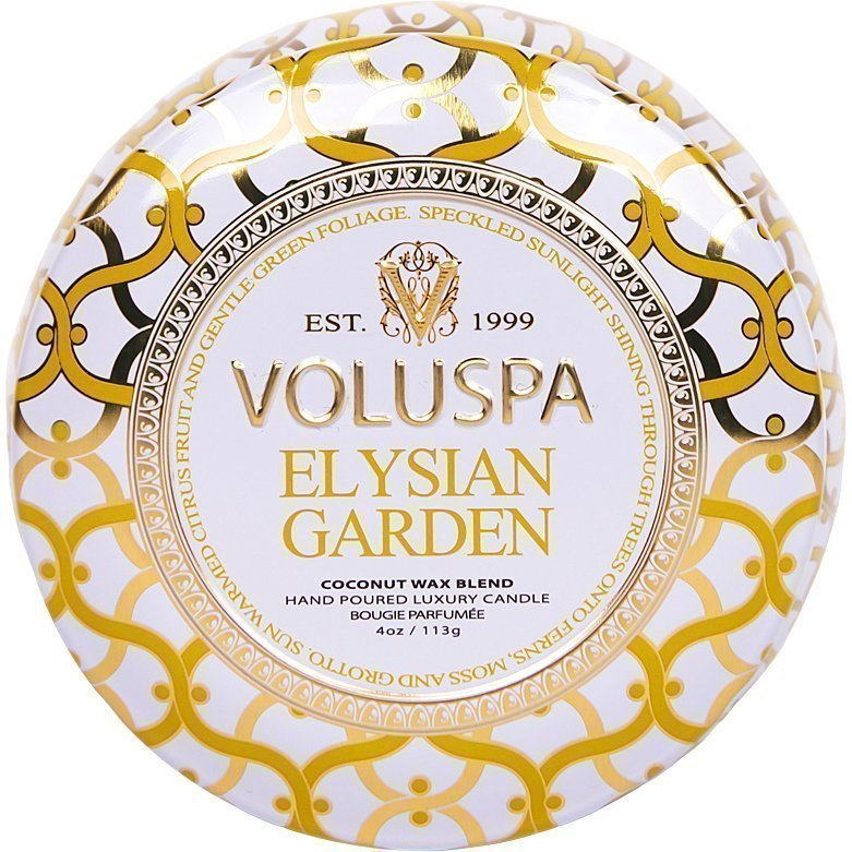 Voluspa Elysian Garden Decorative Tin Candle 99g