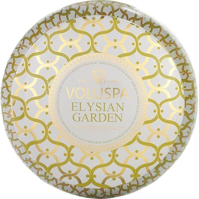 Voluspa Elysian GardenWick Maison Metallo Candle 312g