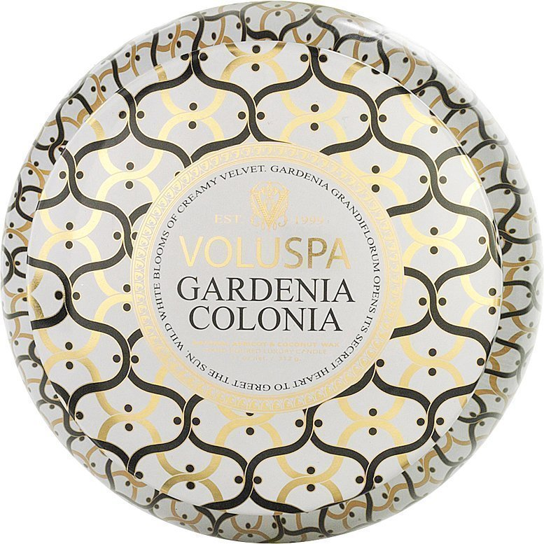 Voluspa Gardenia ColoniaWick Maison Metallo Candle 312g