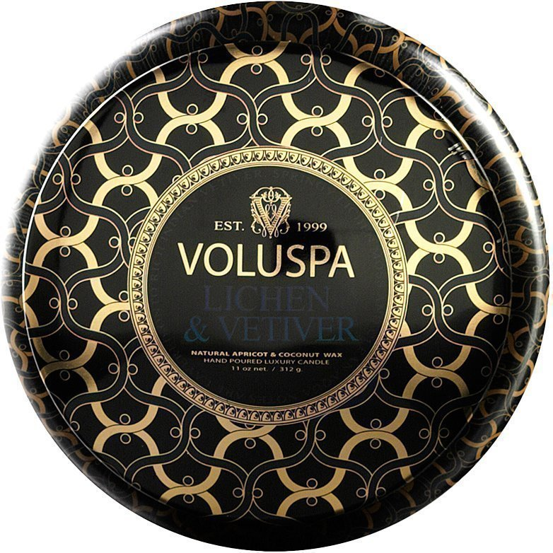 Voluspa Lichen & VetiverWick Maison Metallo Candle 312g