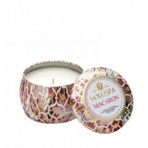 Voluspa Macaron Decorative Tin Candle Tuoksukynttilä Valkoinen