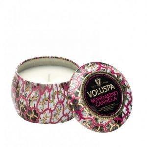 Voluspa Mandarino Cannela Decorative Tin Candle Tuoksukynttilä Valkoinen