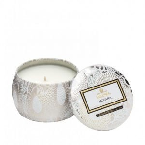 Voluspa Mokara Decorative Tin Candle Tuoksukynttilä Valkoinen