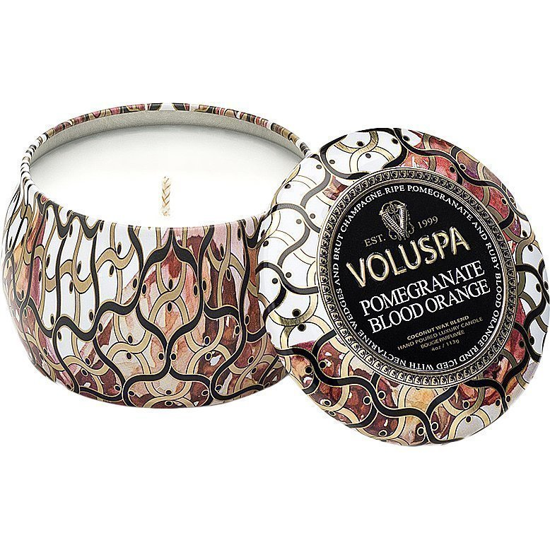 Voluspa Pomegranate Blood Orange Decorative Tin Candle 99g