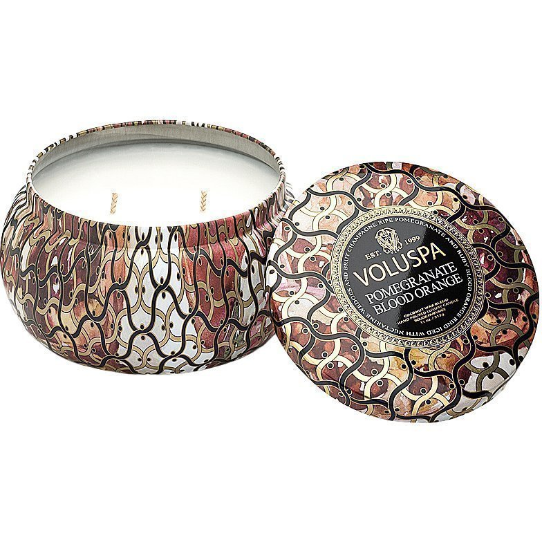 Voluspa Pomegranate Blood OrangeWick Maison Metallo Candle 312g