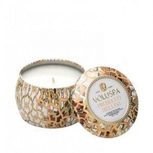 Voluspa Prosecco Bellini Decorative Tin Candle Tuoksukynttilä Valkoinen