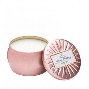 Voluspa Prosecco Rose Decorative Tin Candle Tuoksukynttilä Valkoinen