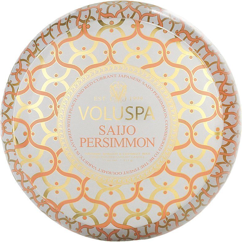 Voluspa Saijo PersimmonWick Maison Metallo Candle 312g