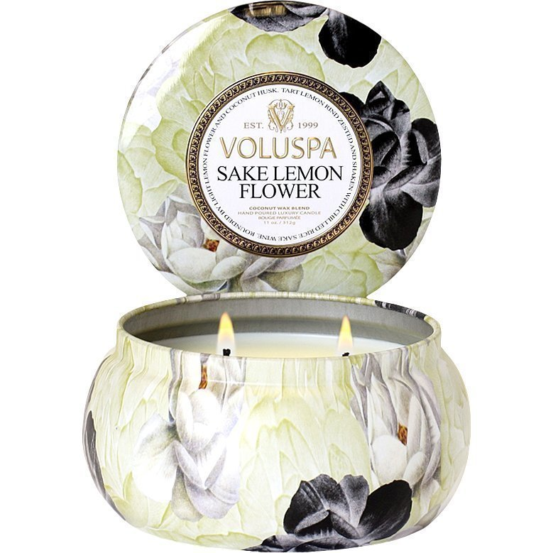 Voluspa Sake Lemon FlowerWick Maison Metallo Candle 312g