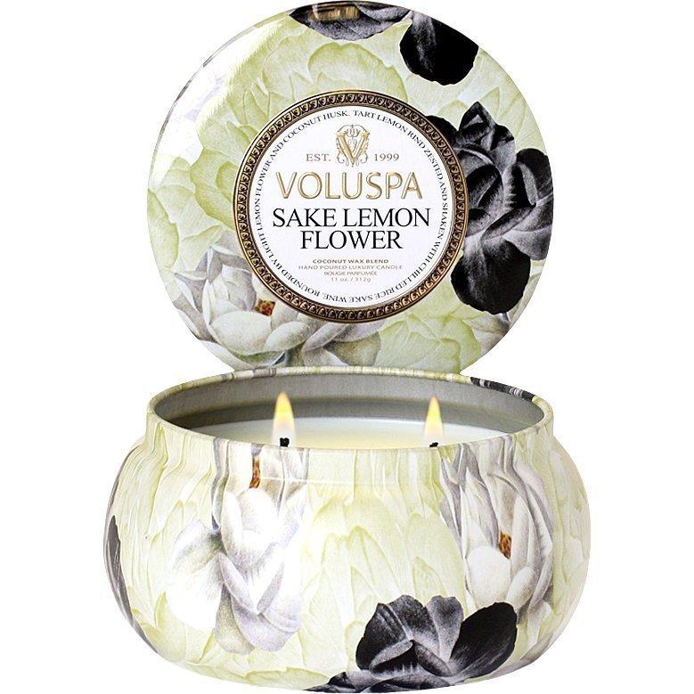 Voluspa Sake Lemon FlowerWick Maison Metallo Candle 312g