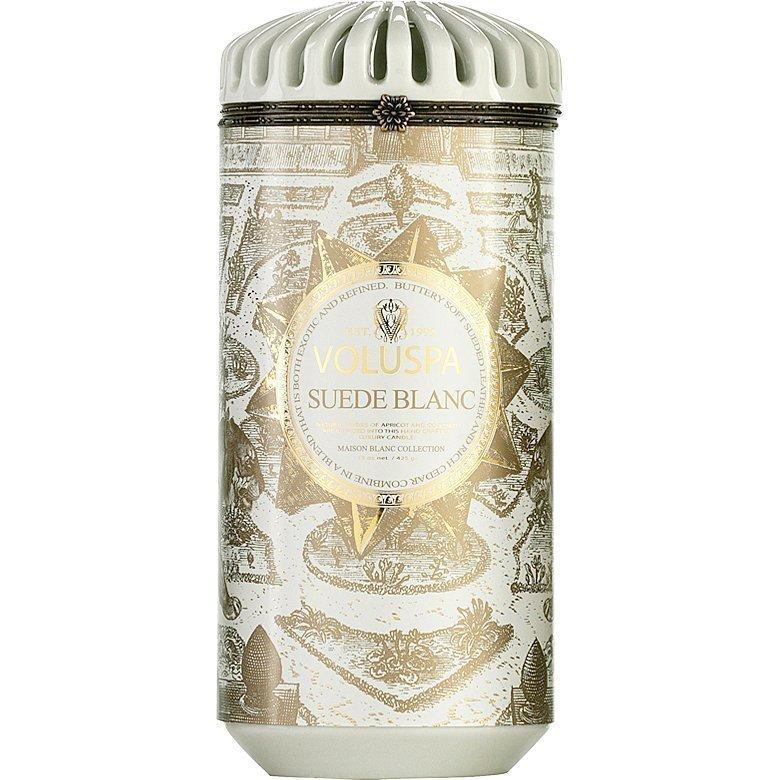 Voluspa Suede Blanc Ceramic Alta Maison Candle 425g
