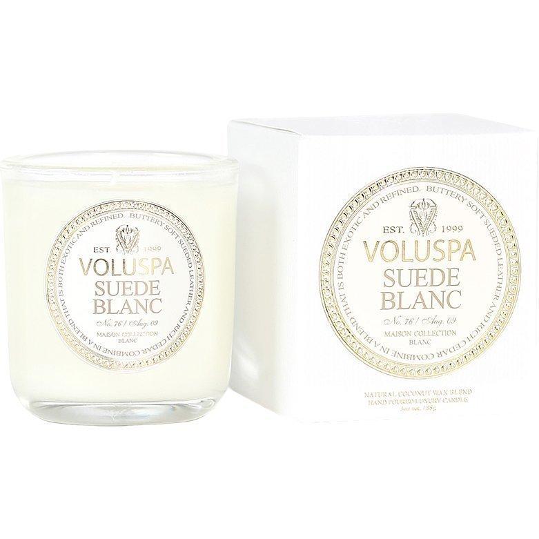 Voluspa Suede Blanc Classic Maison Boxed Votive Candle 85g