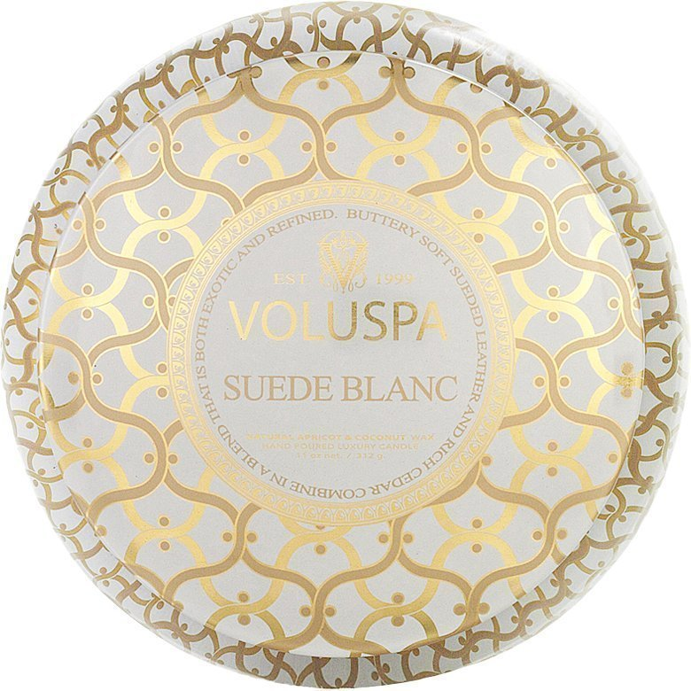 Voluspa Suede BlancWick Maison Metallo Candle 312g