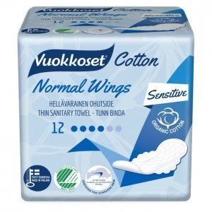Vuokkoset Cotton 12 Normal Wings Terveysside