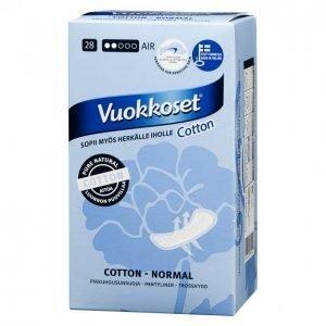 Vuokkoset Cotton Normal Pikkuhousunsuoja 28 Kpl