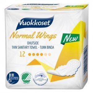 Vuokkoset Normal Wings Terveysside 12 Kpl