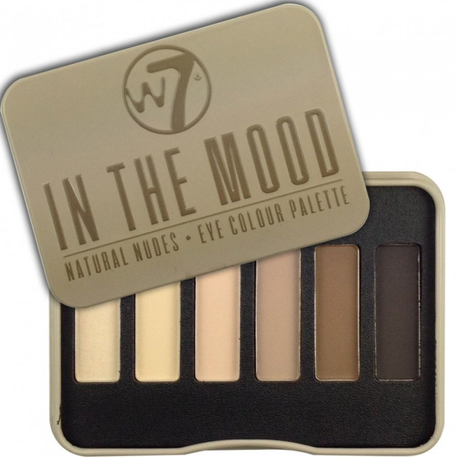 W7 In The Mood Natural Nudes 6pc Luomiväripaletti