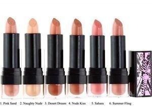 W7 Nude Kiss Naked Lip Colour Huulipuna Eri Sävyjä