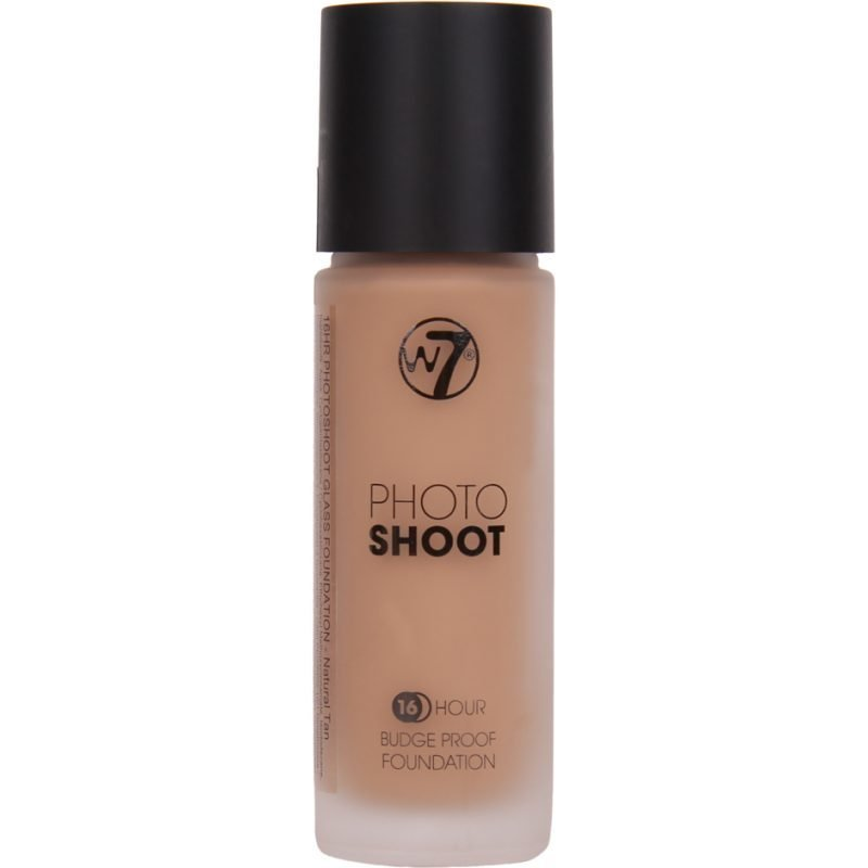 W7 Photo Shoot 16 Hours Budge Proof Foundation Natural Tan 28ml