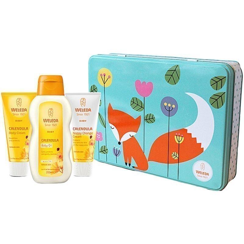 Weleda Baby Kit Calendula Baby Oil 200ml Calendula Nappy Change Cream 75ml Calendula Body Cream 75ml