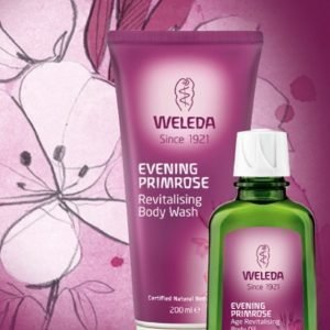 Weleda Primrose Body Wash 200 Ml & Body Oil 100 Ml