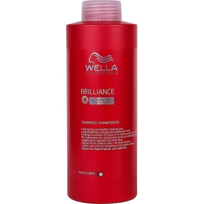 Wella Brilliance Shampoo Thick/Coarse Hair 1000ml