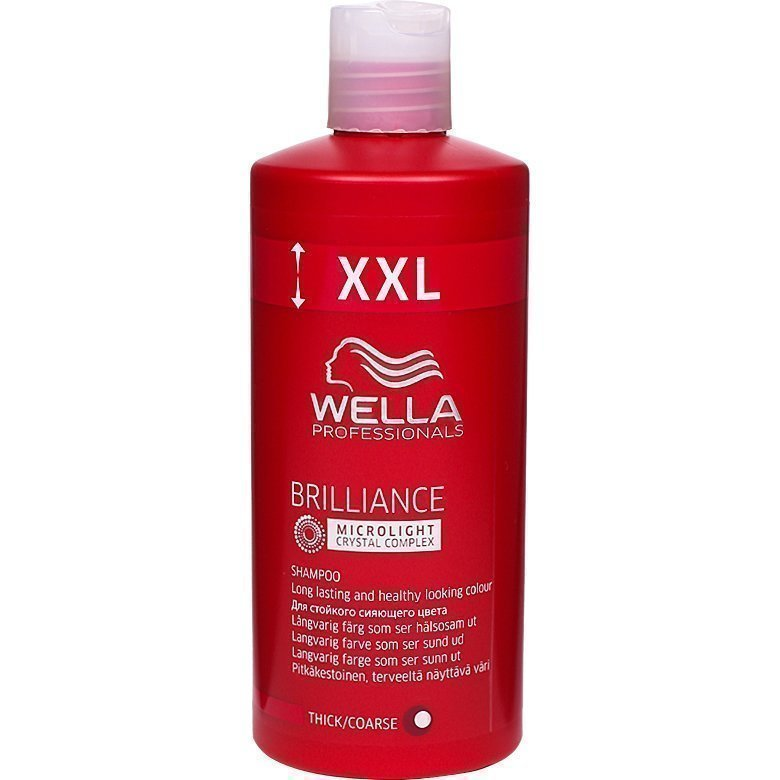 Wella Brilliance Shampoo Thick/Coarse Hair 500ml