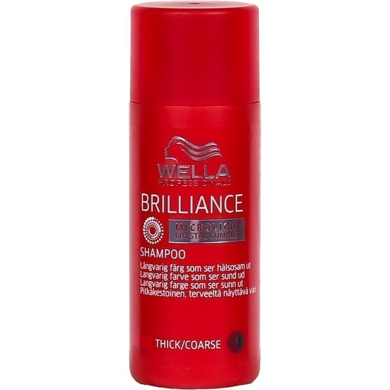 Wella Brilliance Shampoo for Coarce Colored Hair 50ml