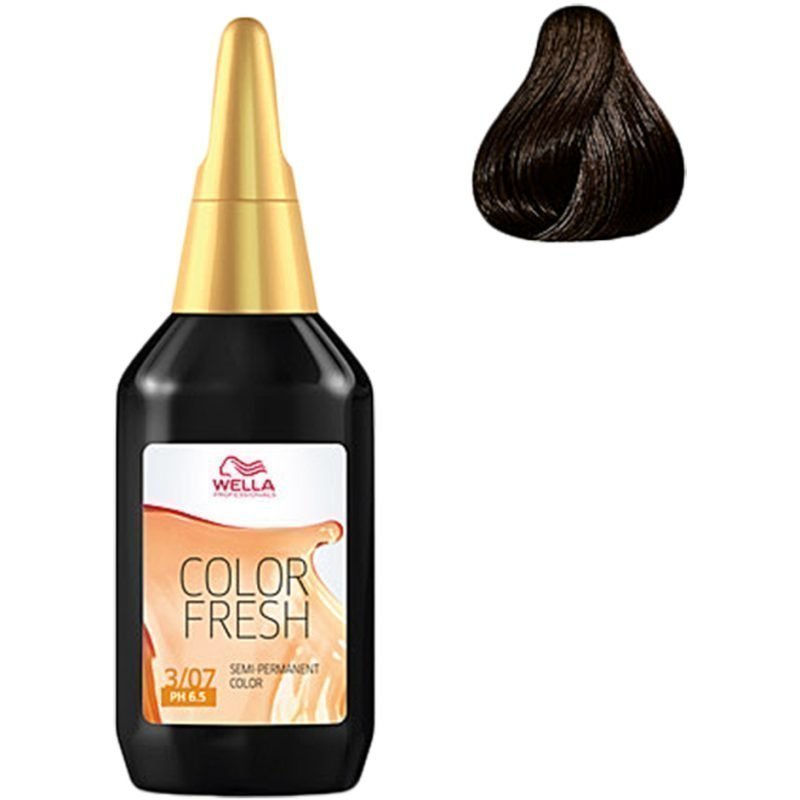 Wella Color Fresh 3/07 Dark Natural Brunette Brown 75ml