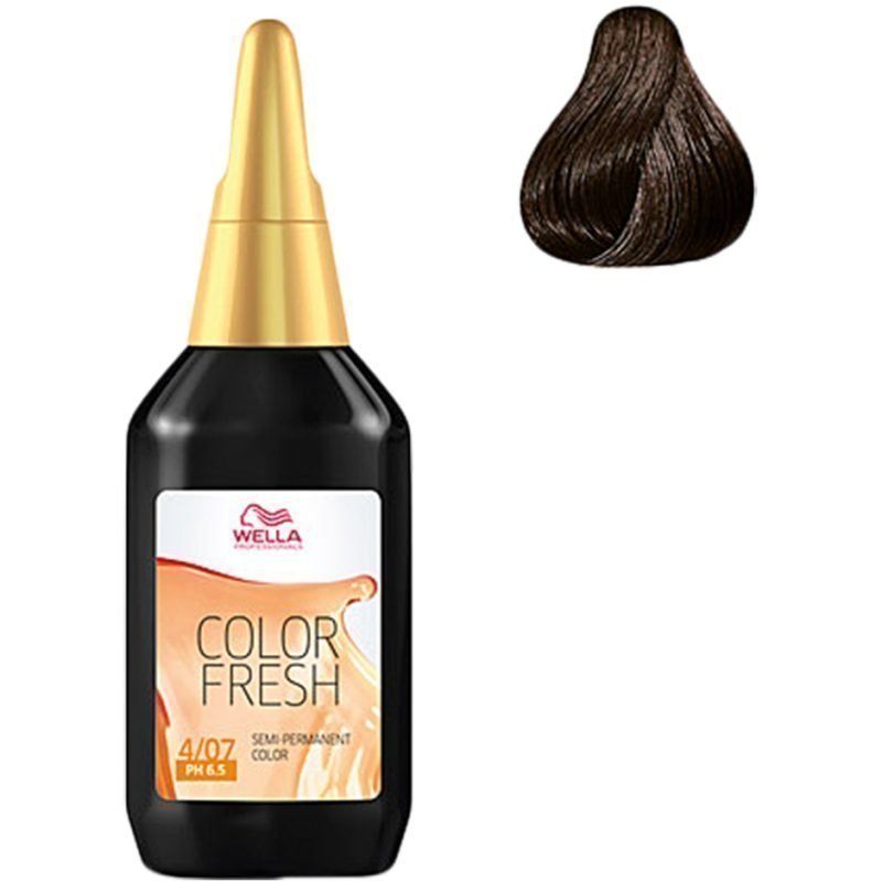 Wella Color Fresh 4/07 Medium Natural Brunette Brown 75ml
