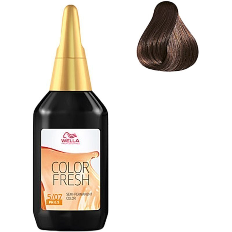 Wella Color Fresh 5/07 Light Natural Brunette Brown 75ml