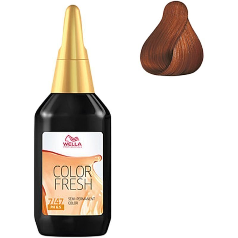 Wella Color Fresh 7/47 Medium Blonde Red Brown 75ml