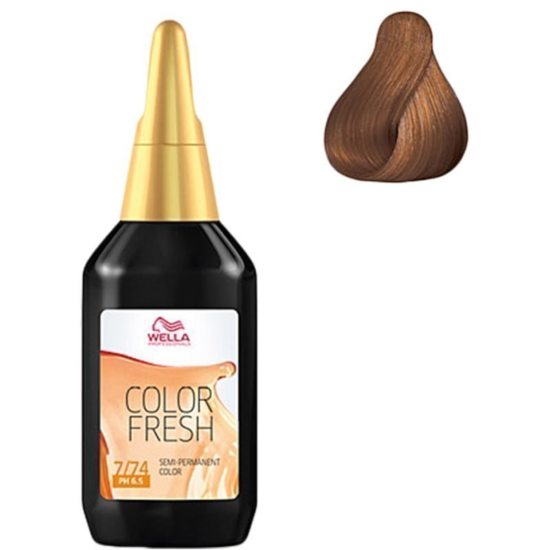 Wella Color Fresh 7/74 Medium Brunette Red Blonde 75ml