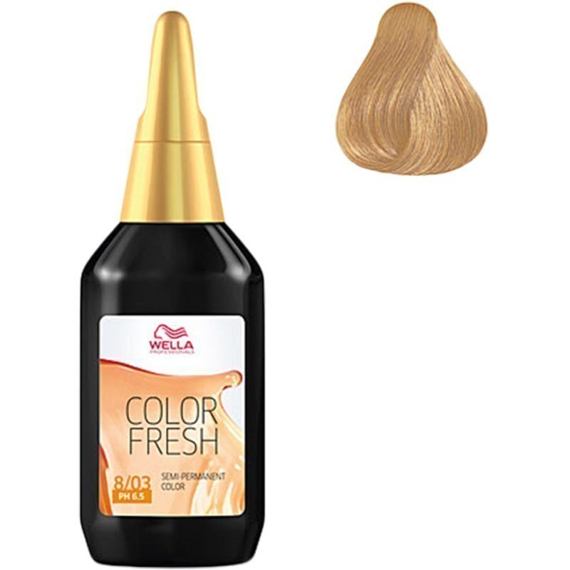 Wella Color Fresh 8/03 Light Blonde Gold 75ml