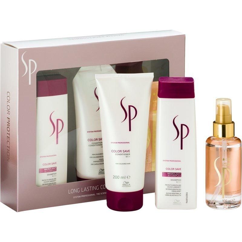 Wella Color Save Set Shampoo 250ml Conditioner 200ml Oil 100ml