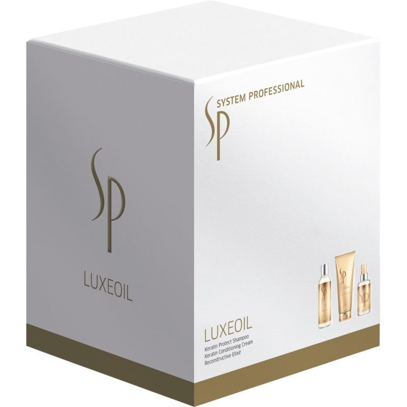 Wella Luxeoil Set Shampoo 200ml Conditioning Cream 200ml Reconstructive Elixir 100ml