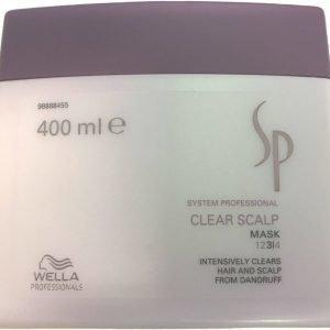 Wella SP Clear Scalp Mask Intensiivihoito hilsettä vastaan 400 ml